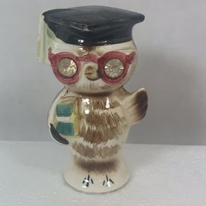 vintage salt or pepper shaker owl lefton japan